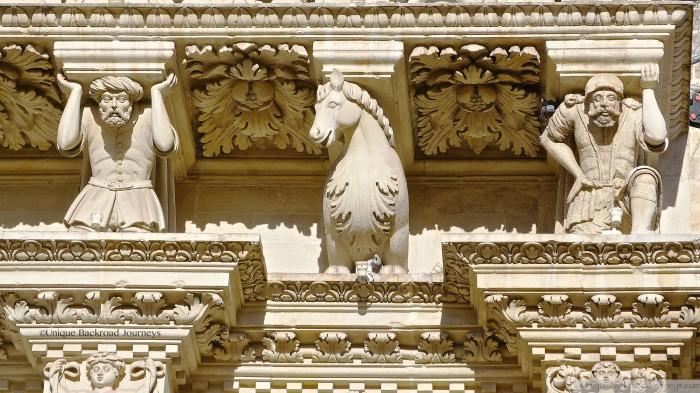 Lecce, Puglia, Italy, Detail Santa Croce